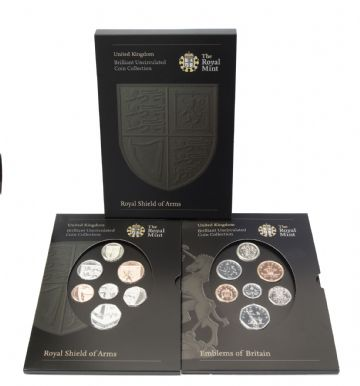 2008 Brilliant Uncirculated Royal Shield Arms Coin and Shield Set